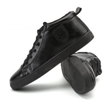 Male Breathable Wearable Lace up Casual Shoes - JET BLACK 43