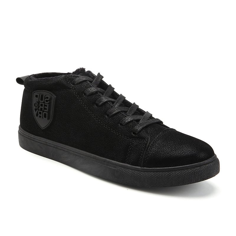 Male Breathable Wearable Lace up Casual Shoes - BLACK 42