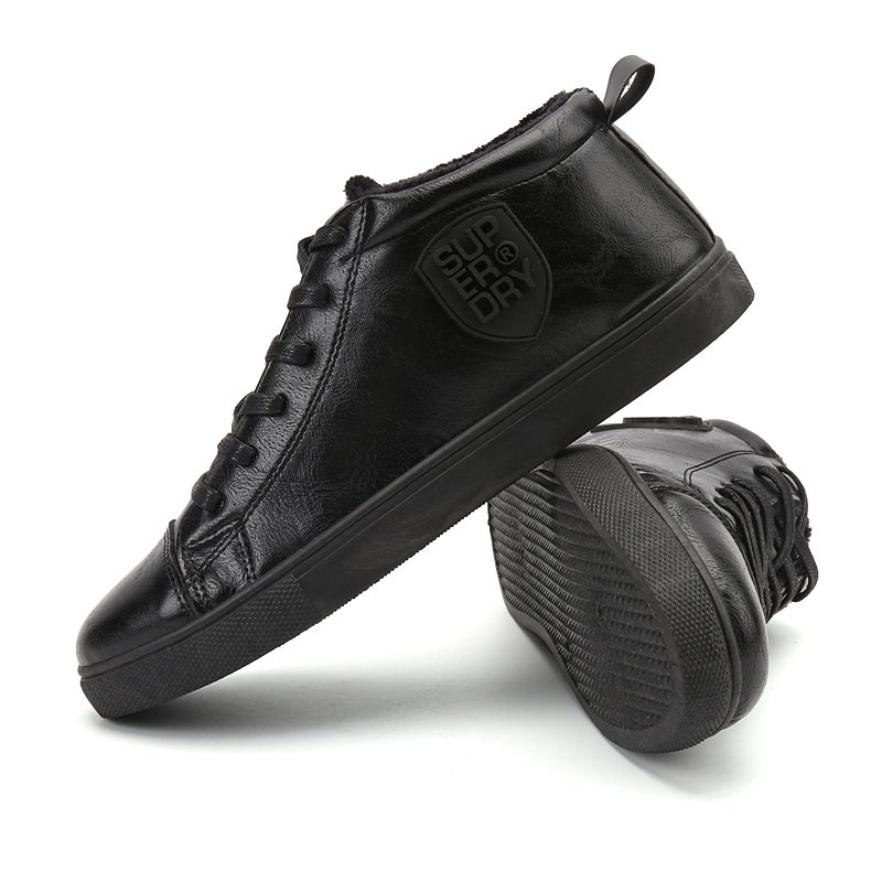 Male Breathable Wearable Lace up Casual Shoes - JET BLACK 39