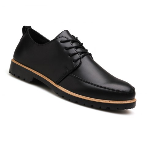 New Casual Leather Shoes for Autumn - BLACK 44