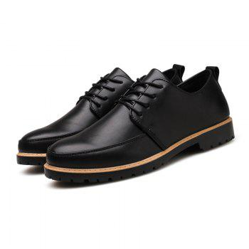 New Casual Leather Shoes for Autumn - BLACK 43