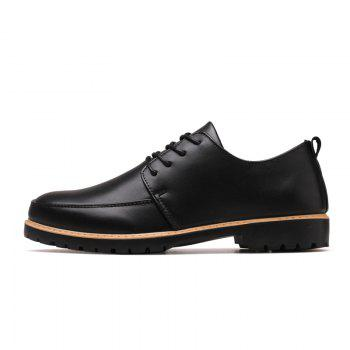 New Casual Leather Shoes for Autumn - BLACK BLACK