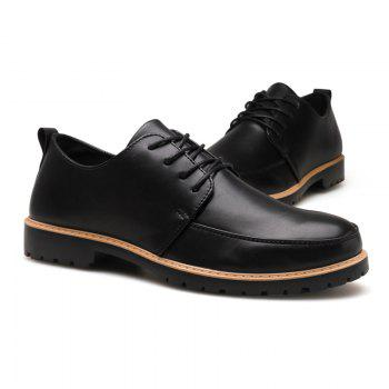 New Casual Leather Shoes for Autumn - BLACK 42