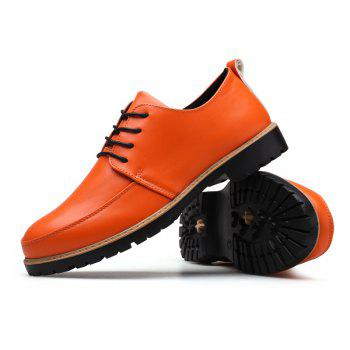 New Casual Leather Shoes for Autumn - ORANGE 43