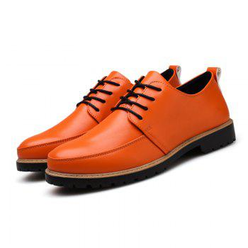 New Casual Leather Shoes for Autumn - ORANGE 41