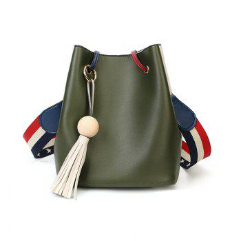 Edition Simple Bucket Bag Style Slanting Bag with A Bag of Casual Shoulder Bag - IVY IVY