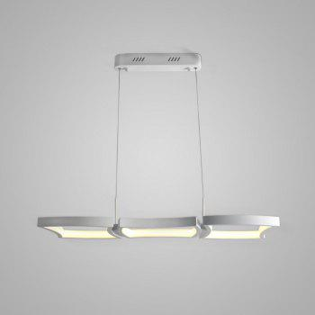Simple Creative White LED Pendant lamp Square Combination Shape for Office Room  Living Dining Room Bedrooms - WHITE US AC110-120V