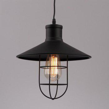 Industrial Ceiling Light Fixture Retro Pendant Lamps for House Bar Restaurants Coffee Shop Club Decoration - BLACK BLACK