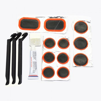 21044 Bicycle Tire Repair Tool 16 in One Package - TRANSPARENT TRANSPARENT