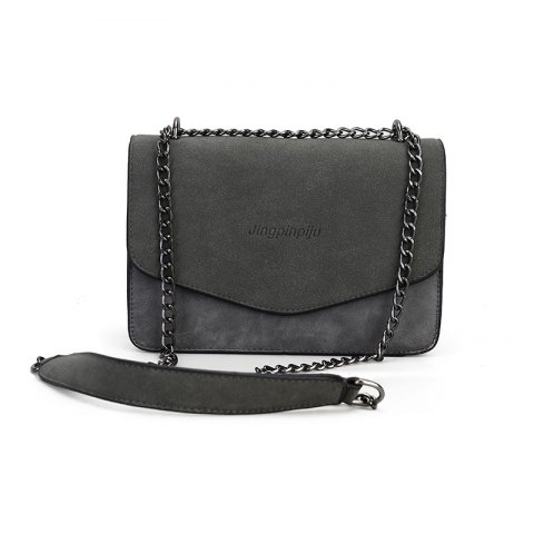 simple Solid Color chain bag for women - GRAY