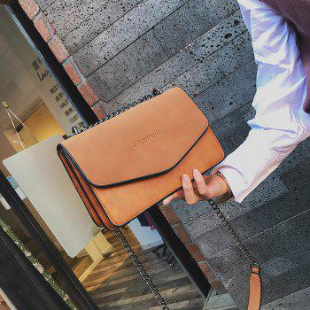 simple Solid Color chain bag for women - TAN