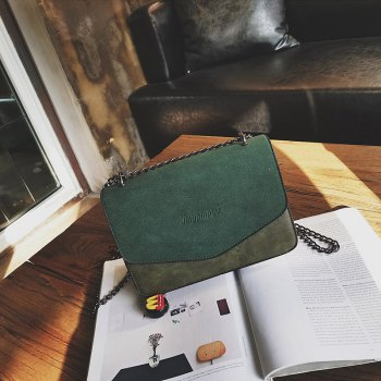 simple Solid Color chain bag for women - GREEN