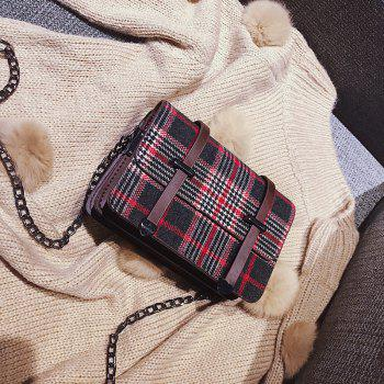 simple check all match messenger bag for women - RED