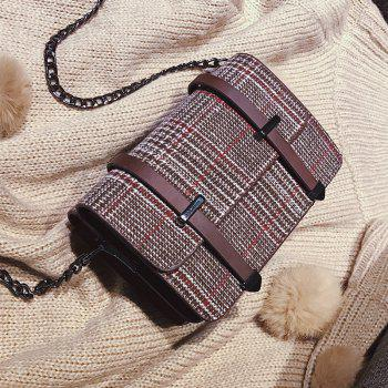simple check all match messenger bag for women - COFFEE