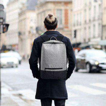 Men Waterproof Canvas 14 Inch Laptop Backpack - GRAY GRAY