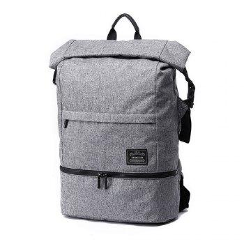 Waterproof Canvas Wet Dry Seperate Travel Bag 15 Inch Backpack - GRAY GRAY