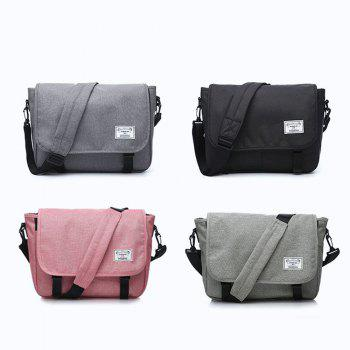Waterproof Canvas 14 Inch Messenger Bag Corss Body Bag - GRAY ONE SIZE