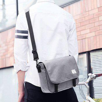 Waterproof Canvas 14 Inch Messenger Bag Corss Body Bag - LIGHT GRAY LIGHT GRAY