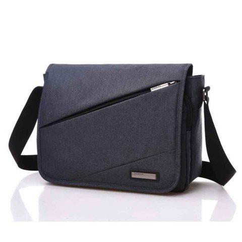 Waterproof Canvas 12 Inch Shoulder Bag Messenger Bag - BLAK ONE SIZE