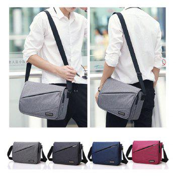 Waterproof Canvas 12 Inch Shoulder Bag Messenger Bag - BLAK BLAK