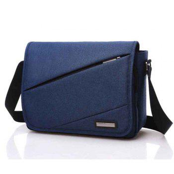 Waterproof Canvas 12 Inch Shoulder Bag Messenger Bag - BLUE BLUE