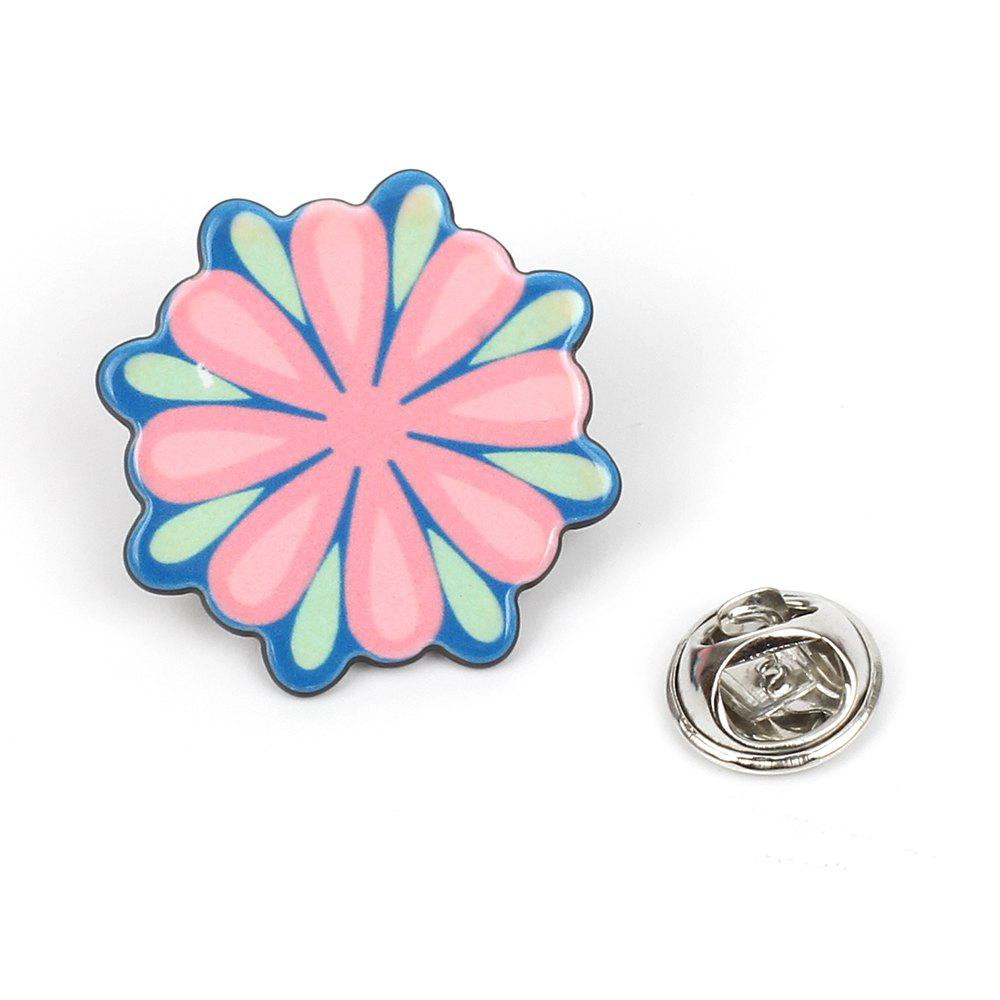 Gorgeous Flowers Brooch Set Shell Umbrella Accessories - COLORMIX