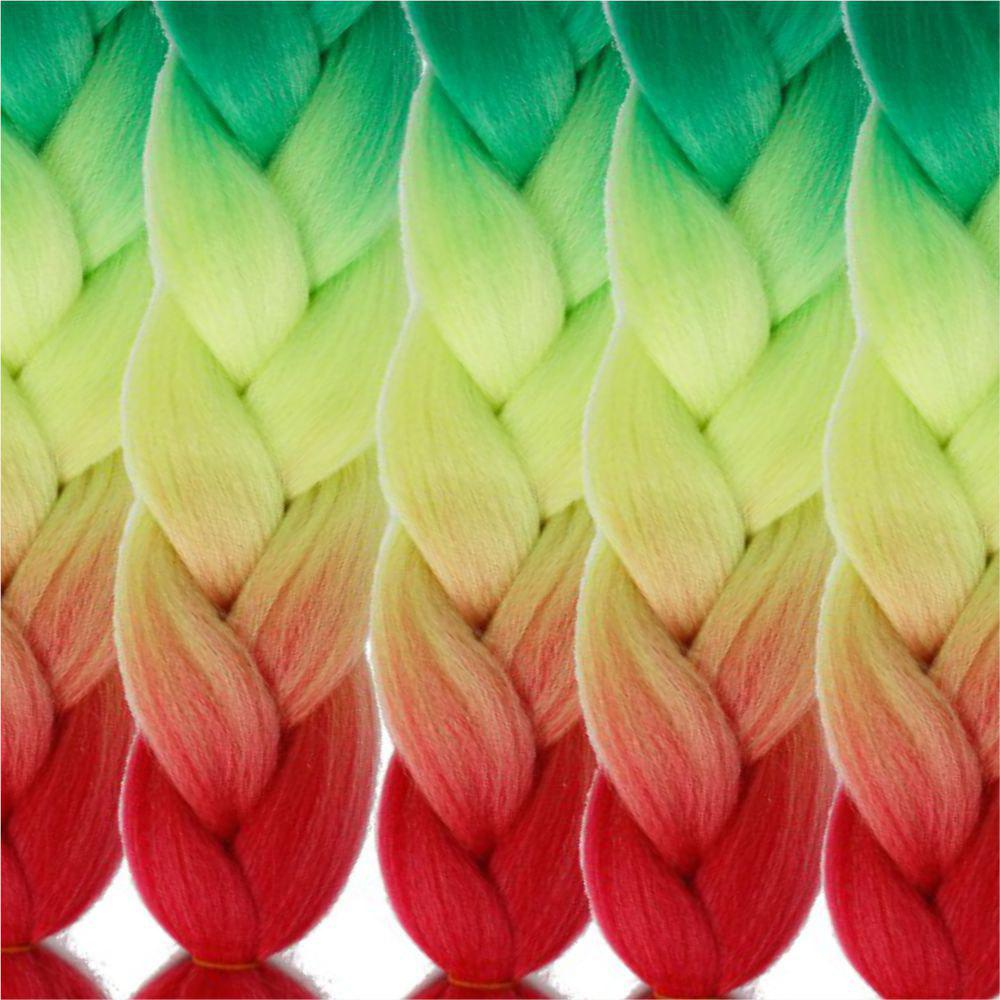 5pcs 3 Tone Ombre Jumbo Braiding Hair Extensions 24 inch Crochet Braids High Temperature Kanekalon Synthetic Fiber Twist - GRADIENT