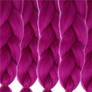 5pcs 1 Tone Ombre Jumbo Braiding Hair Extensions 24 inch Crochet Braids Kanekalon Synthetic Fiber Twist - PURPLE PURPLE