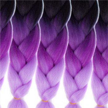 5pcs 3 Tone Ombre Jumbo Braiding Hair Extensions 24 inch Crochet Braids Kanekalon Synthetic Fiber Twist - PURPLE PURPLE