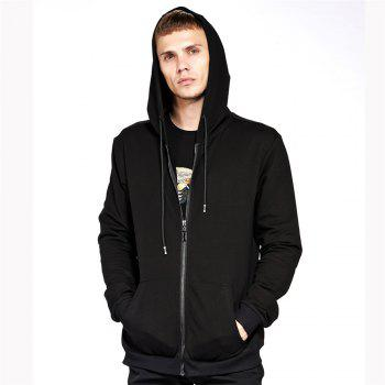 Men s Hoodie Casual Fashion Solid Color All Match Long Sleeve Hoodie