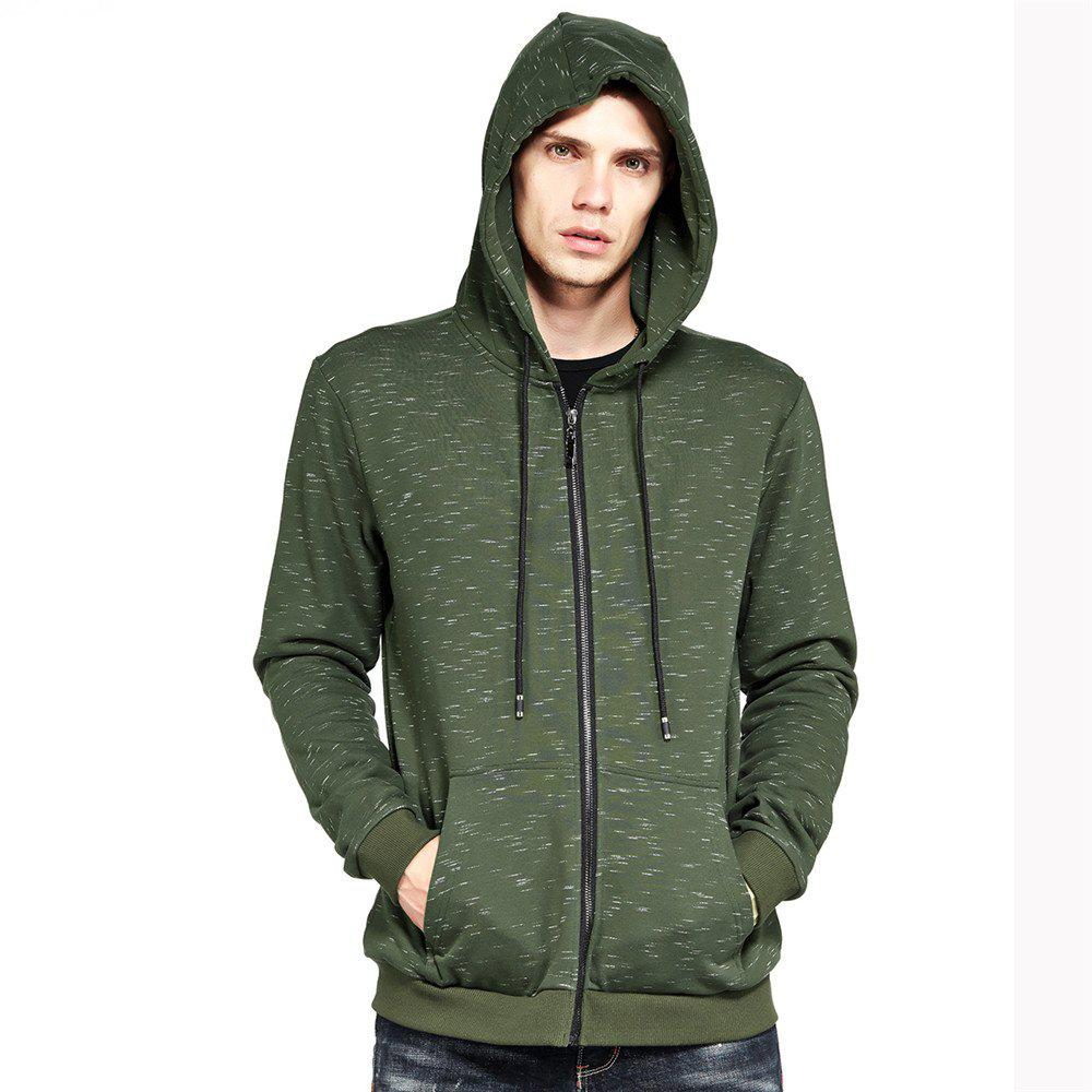 Men's Hoodie Casual Fashion All Match Long Sleeve Hoodie - GREEN L