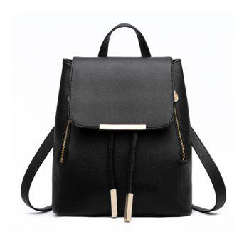 Spring and Summer New Backpack College Wind Student Backpack Tide Fashion Lady KLY8853 - BLACK BLACK