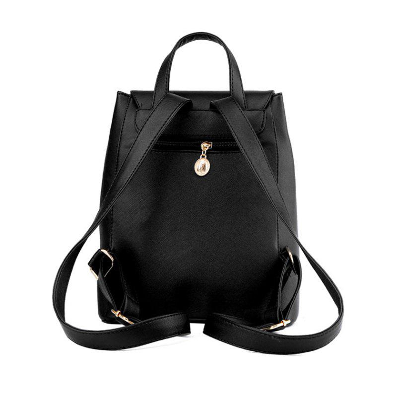 Spring and Summer New Backpack College Wind Student Backpack Tide Fashion Lady KLY8853 - BLACK 30CM24CM16CM