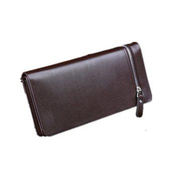 Single Men Pull Long Wallet Handbag Wallet Wallet Business - BROWN C STYLE 20CM10CM3CM