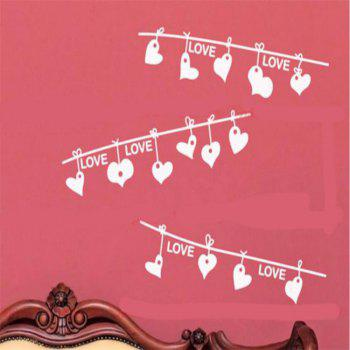 DSU LOVE Heart Valentine'S Day Creative Essence wall Sticker Home Decoration - WHITE 53X35CM