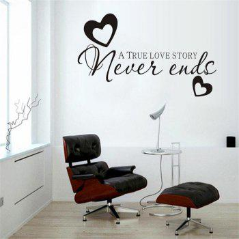 DSU Hot Sale Never Ends Quotes Vinyls Stickers Wall Stickers Home Decor Living Room - BLACK 55X30CM