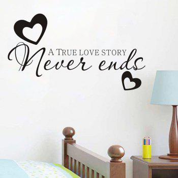 DSU Hot Sale Never Ends Quotes Vinyls Stickers Wall Stickers Home Decor Living Room - BLACK BLACK