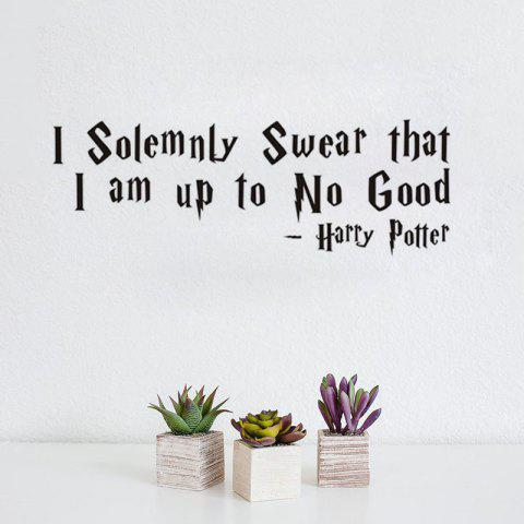 DSU Solemnly Swear Quotes Vinyls Stickers Wall Stickers Home Decor Living Room - BLACK 58X20CM
