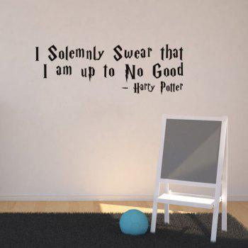 DSU Solemnly Swear Quotes Vinyls Stickers Wall Stickers Home Decor Living Room - BLACK BLACK