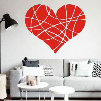 DSU Geometric Heart DIY Wall Sticker For Home Decor Minimalism Nordic Style Creative Romantic Living Rooms Poster Wall Paintings - RED RED