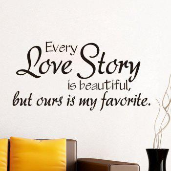 DSU New Arrival Decals Every Love Story Wall Stickers Home Decor Sweet Love Romantic Art Wall Decals Home Decoration - BLACK BLACK