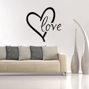 DSU Love Vinyl Sticker Tribal Design Girl Bedroom Decor Gift for Her Bedroom Wallpaper - BLACK 43X43CM