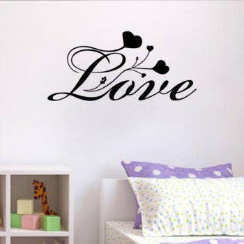 DSU Bedroom Vinyl Wall Decals Every Love QUOTE Wall Stickers Bedroom Decor - BLACK BLACK