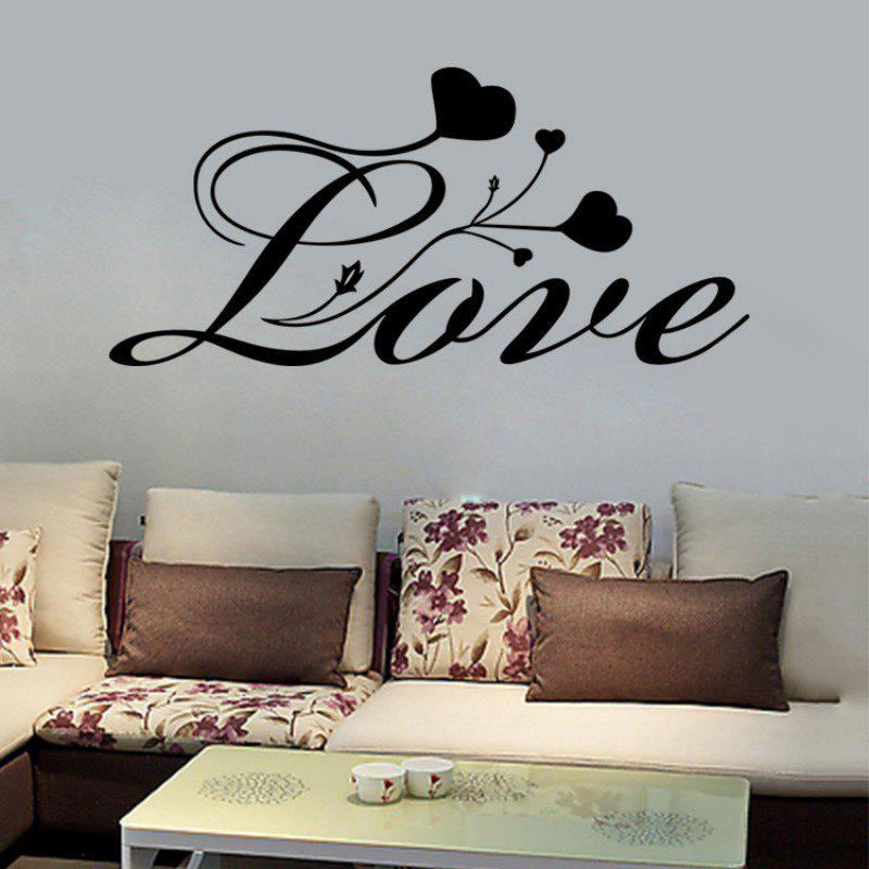 DSU Bedroom Vinyl Wall Decals Every Love QUOTE Wall Stickers Bedroom Decor - BLACK 58X27CM