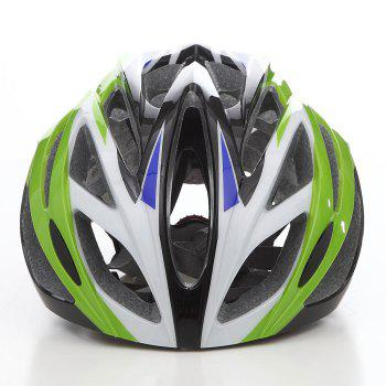 Cool Bicycle Helmet Bike Cycling Adult Adjustable Unisex Safety Helmet - WHITE/GREEN