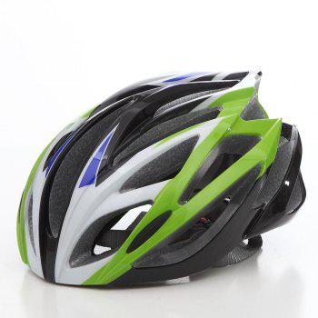 Cool Bicycle Helmet Bike Cycling Adult Adjustable Unisex Safety Helmet - WHITE AND GREEN WHITE/GREEN