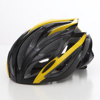 Cool Bicycle Helmet Bike Cycling Adult Adjustable Unisex Safety Helmet - YELLOW AND BLACK YELLOW/BLACK