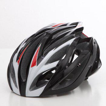 Cool Bicycle Helmet Bike Cycling Adult Adjustable Unisex Safety Helmet - RED AND WHITE RED/WHITE