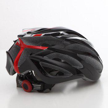 Cool Bicycle Helmet Bike Cycling Adult Adjustable Unisex Safety Helmet - RED/WHITE