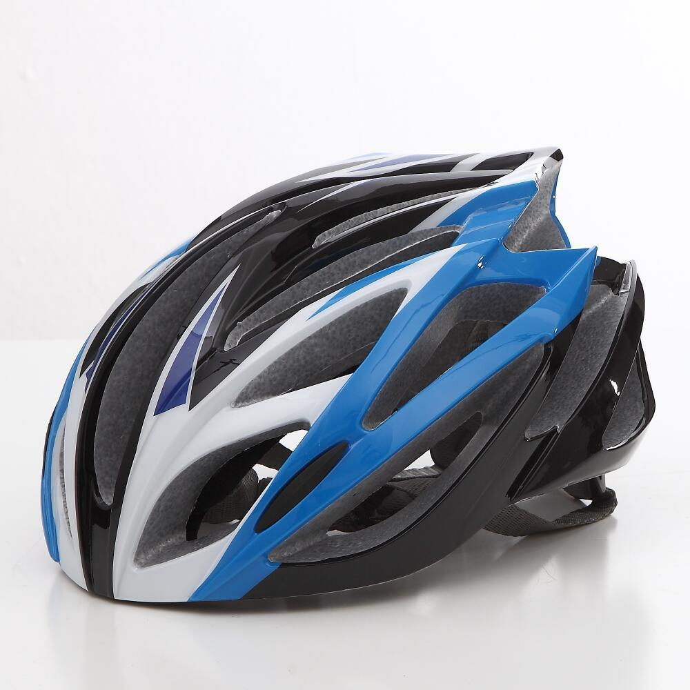 Cool Bicycle Helmet Bike Cycling Adult Adjustable Unisex Safety Helmet - BLUE/WHITE